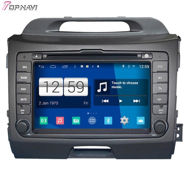 S160 superior 8 ''Quad Core Android 4.4 Del Coche DVD GPS Para Kia Sportage 2014 Con Espejo Enlace Wifi Stereo Radio Multimedia Envío gratis