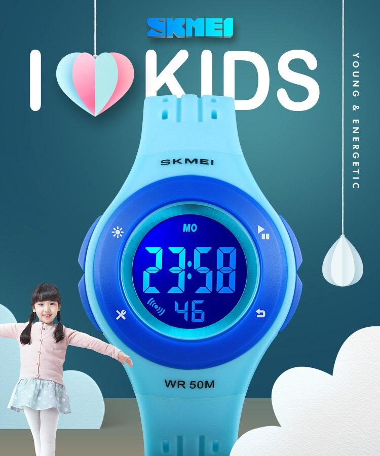 SKMEI Fashion Men Quartz Watch Children Digital Watch Big Dial Waterproof Parent-child Watches relogio masculino 9185 1455 Set 14