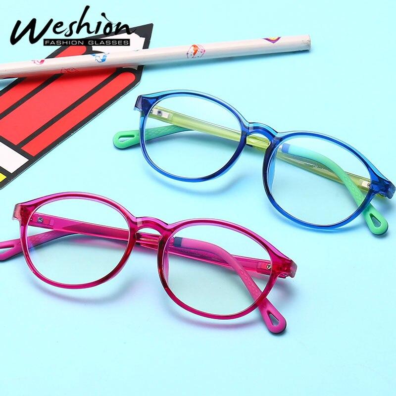 Blue Light Kids Glasses Blocking Children Computer Flexible Eyeglasses Optical Frame Clear lens Digital Eye Strain Gaming UV400