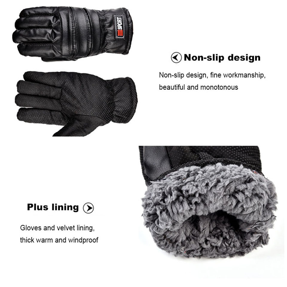 winter gloves mens thermal Waterproof Windproof touch screen Outdoor cycling Non-slip wear ski Snowboarding gloves (3)