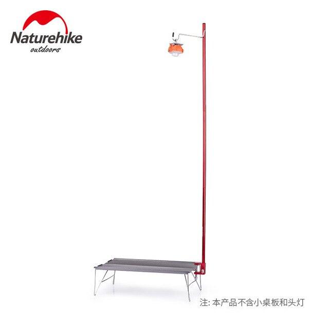 Naturehike outdoor camping picnic portable light pole travel aluminum alloy folding camp tent light pole 4