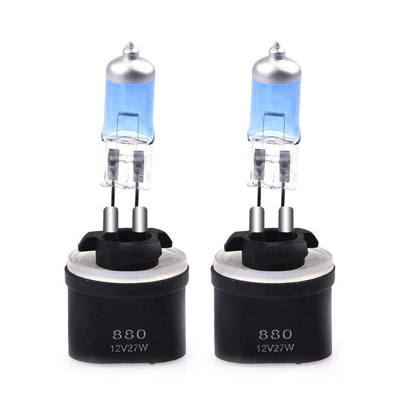 2 Pcs 880/881 27w 12v Bulb 880 889 H27W 881 894 H27 Car Fog Lights Lamp  Light Source Parking 6000K White