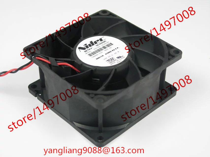 Free Shipping For Nidec V35132-16LRCKF DC 24V 0.45A 2-wire 2-Pin connector 90mm 80X80X38mm Server Square Cooling Fan free shipping for nidec l34689 57 eps dc 12v 0 20a 80x80x25mm 3 wire server square cooling fan
