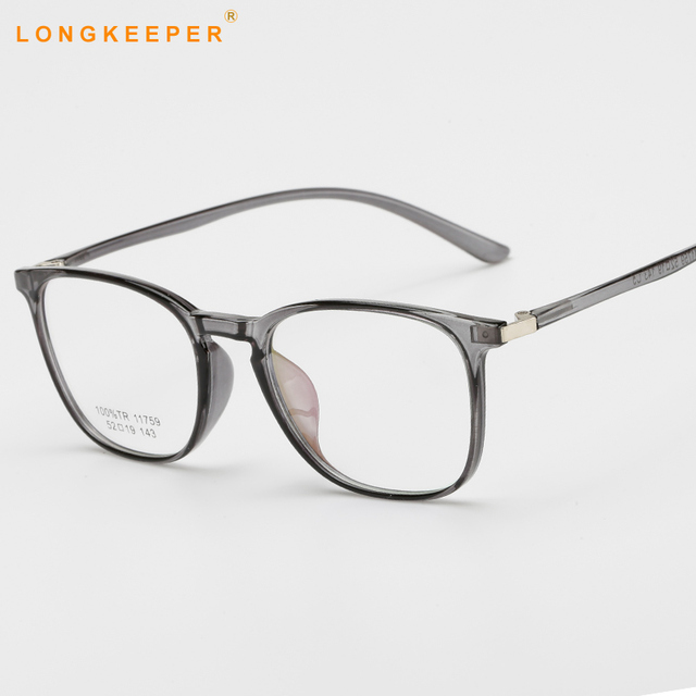 b2bb5eab9506 Spectacle Clear Lens Glasses Frame Women Men TR90 Flexible Eyeglasses  Frames Optical Transparent Eye Glasses Frames