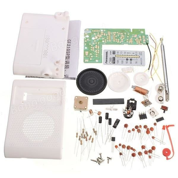 DIY CF210SP AM FM Radio Kit Electronic Assemble Kit For Electronic Learner(China)