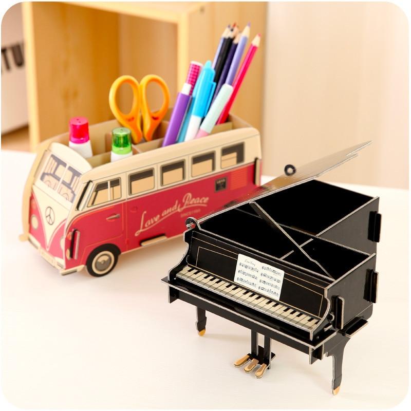 Eworld Творчі DIY Картон Настільний Pen Holder - Організація і зберігання в будинку - фото 3