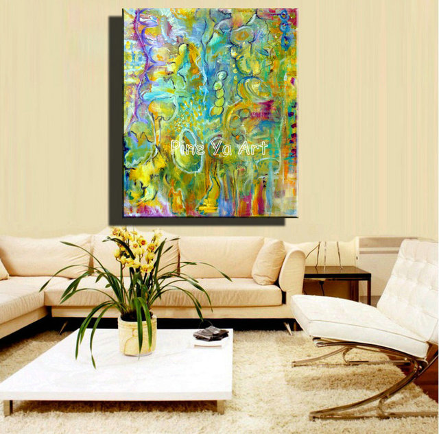 Big abstract modern canvas wall art decorative handpainted ...