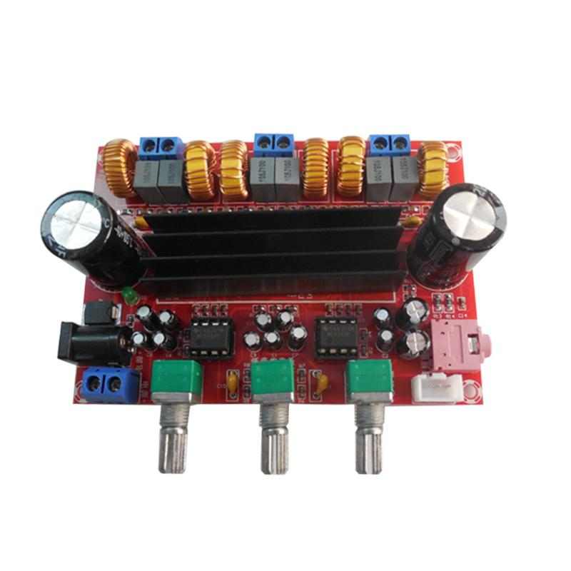 TPA3116D2 Sound Power Amplifier Board 50W *2 +100W 2.1 Channel Digital Subwoofer Power Amplifier Board DC12V-24V 4 1 channel lm4780 amplifier finished board ac 24v 28v 4x68w 130w subwoofer