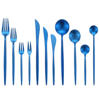 11PCS Gold Cutlery Set 18/10 Stainless Steel Cutlery Set Butter Knife Dessert Spoon Dinner Fork Tea Ice Spoon Tableware Set