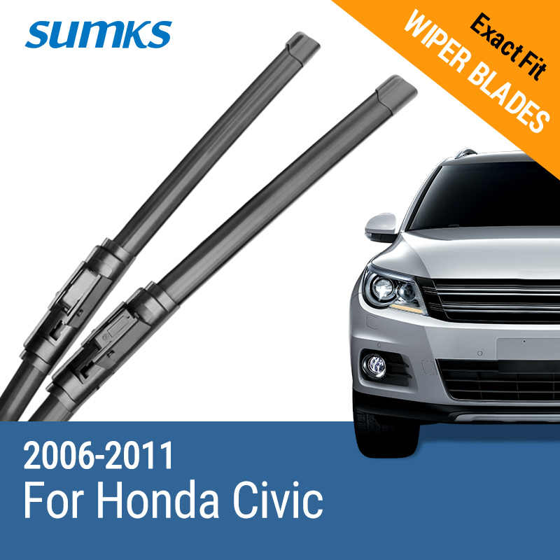 "Cuchillas de limpiaparabrisas para Honda Civic 26 ""y 23"" Fit Hook Arms 2006 2007 2008 2009 2010 2011"