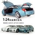 Горячая 1:24 Автомобилей M6 Металлического Сплава Литья Под Давлением Игрушечных Автомобилей Модель Миниатюра Без Звука и Света Эмуляции Электрический Автомобиль