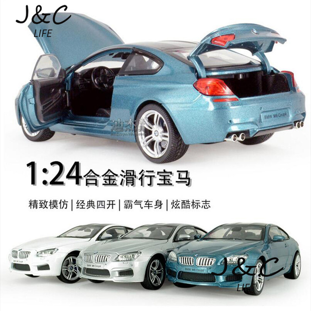 Hot 1:24 Cars M6 Metal Alloy Diecast Toy Car Model Miniature Scale Model Without Sound and Light Emulation Electric Car
