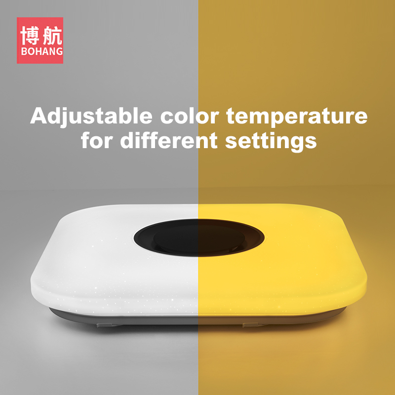 Image 5 - Modern intelligent LED ceiling lamp RGB dimmable APP remote control Bluetooth speaker living room bedroom 90 260v ceiling light-in Ceiling Lights from Lights & Lighting