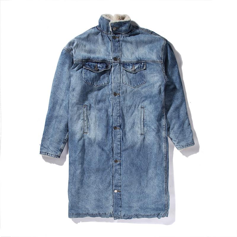 Fashion outfits stylish long fur coat Men clothing fleece sherpa winter denim jackets jean ...