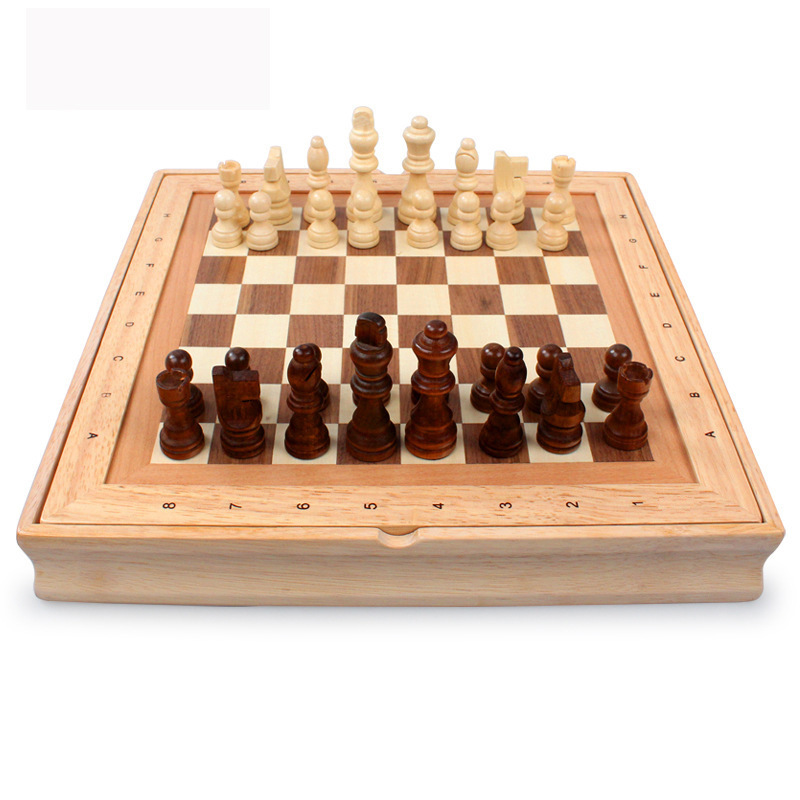 2017 High Quality Classic Wooden Chess Set International Chess Sets Rubber Wood Chess Games high quality magnetic chess large high grade imitation mahogany chess wood wpc chess high impact plastic materials