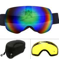Winter Ski Goggles Spherical UV400 Anti Fog Big Ski Mask Glasses Men Women Snowboard Polarized Goggles
