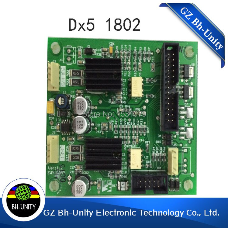 amazing price!! Galaxy 1802 eco slovent printer of dx5 printhead driver board for sale brand new dx5 printhead driver board for inkjet printer galaxy 1802 slovent printer spare parts