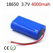 3.7V lithium ion battery 4000mah li li-ion 18650 Pack bms 3.7v reachargeable  Portable CCTV/Loudspeakers/Robot/Lamps