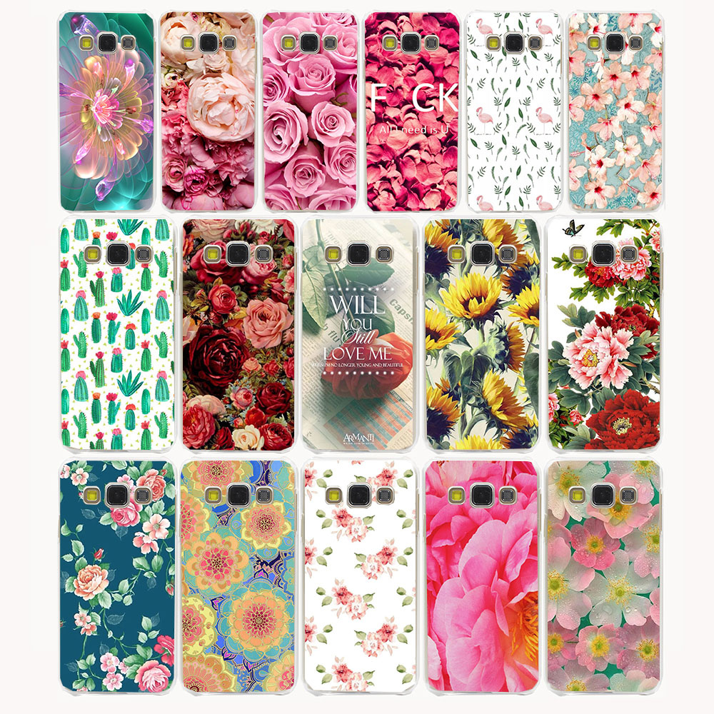 3259CA Flowers Daisy Plants Cactus Hard Case for Samsung Galaxy A3 A5 A7 Note 3 4 5 J3 J5 J7 Grand 2 J3 J5 Prime 2015 2016