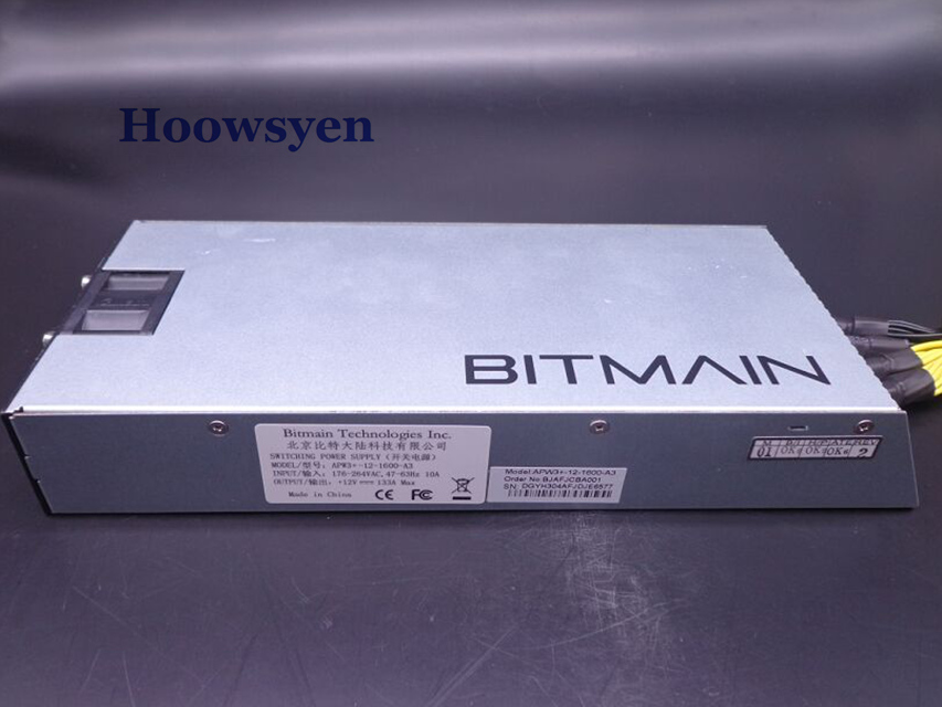 Antminer S9 mining case Bitcoin Miner server Litecoin Miner Power APW3-12-1600-A3 1600W S7/S5/S4 12V Power Supply AntMiner PSU