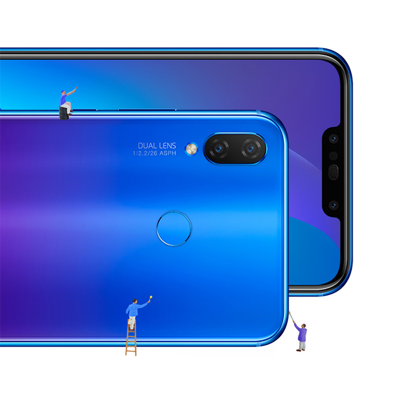 ROM globale originale Huawei nova 3i nova 3i Smartphone 4G RAM 128G ROM 6.3 pouces Kirin710 Octa Core Android 8.1 téléphone Mobile - 4