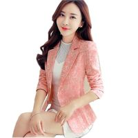 2017 New Blazer Plus Size 3XL Blazer Jacket Women Jacquard Small Suit Fashion Ladies Blazers Coats