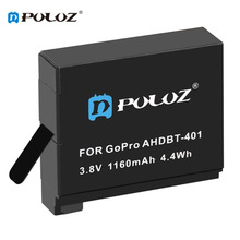 Big discount New Arrivals PULUZ High Quality 1160mAh 3.8V 4.4Wh Rechargeable Digital Camera Battery For GoPro Hero 4 Camera Accessory