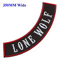 350MM wide rocker of LONE WOLF patch for full back embroidery patch/bordado flores/sewing gifts/bordados para costura