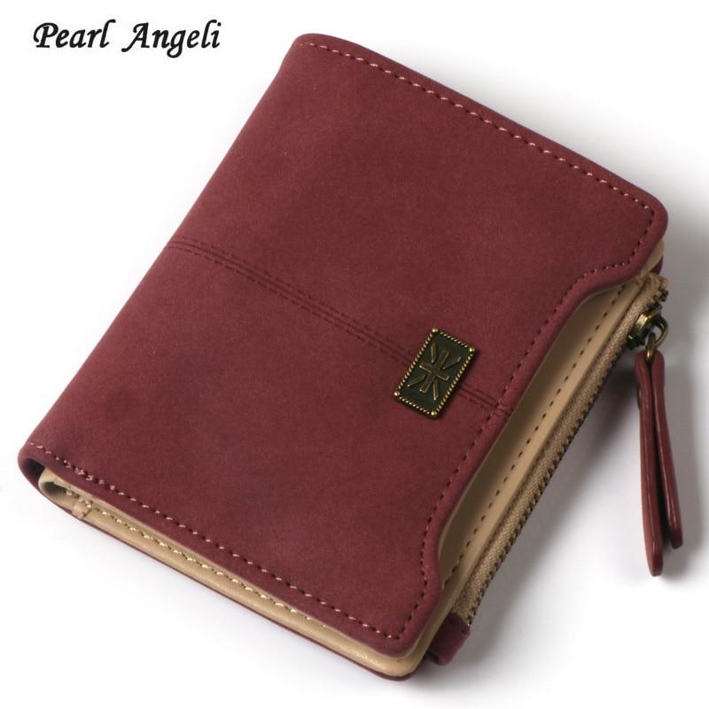 Women Clutch Wallet Female Mini PU Leather Wallets Lady Card Holder Purse Coin Pocket Moeng Bag Mini Clutch Zipper Purses