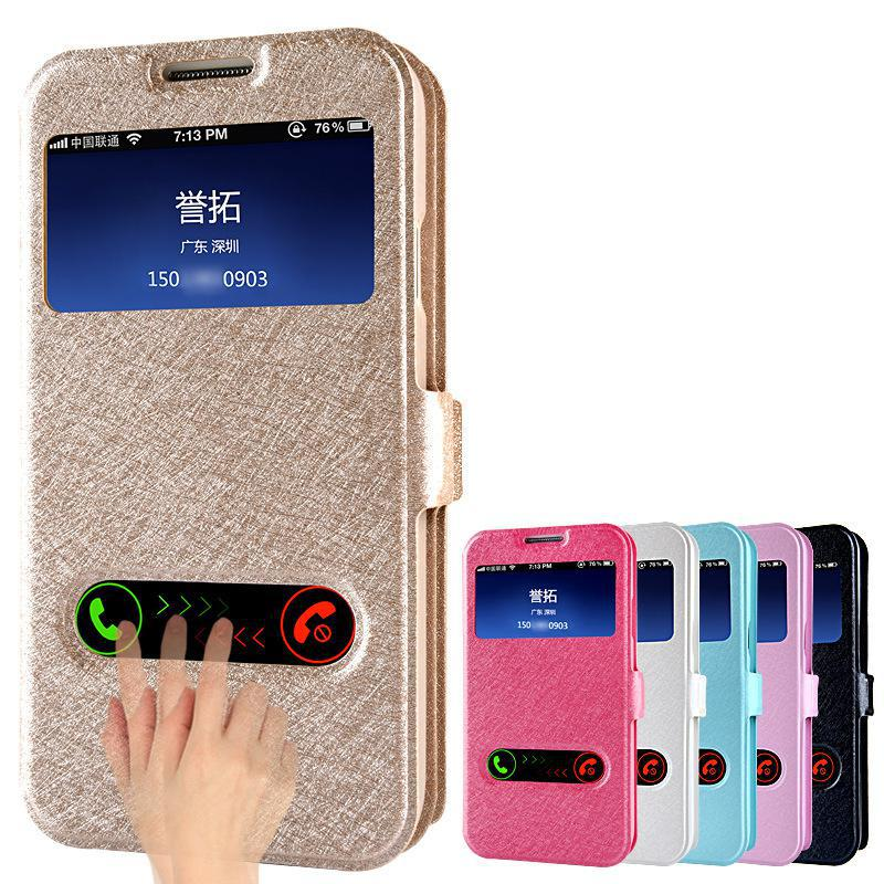 2016 New Cases For Samsung GALAXY S4 T9500 High Quality View Window Flip Cover Leather Case For Samsung GALAXY S5 Phone Cases