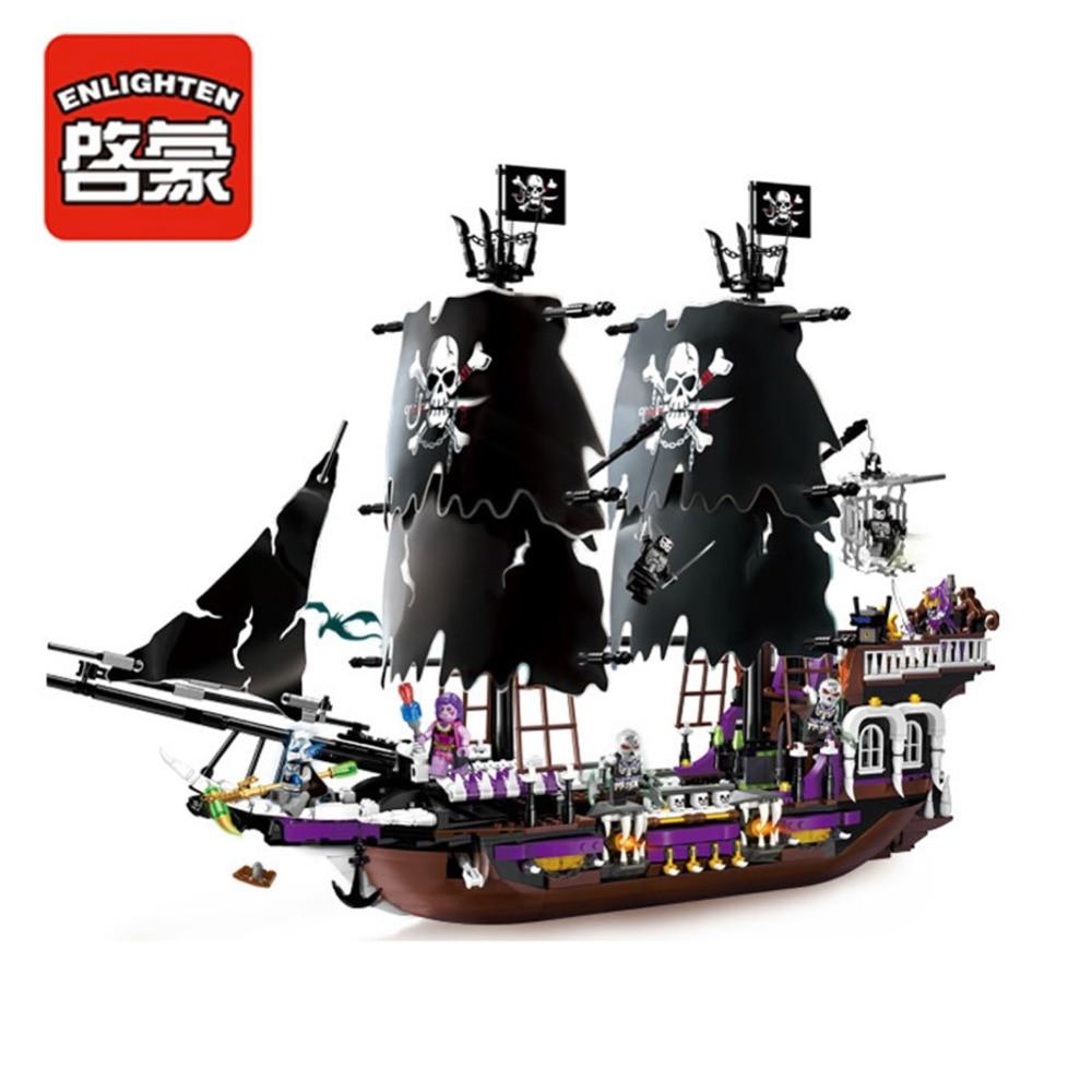 Éclairer bloc de construction bateau Pirate bateau noir général 5 figure 4 canons 1456 pièces (sans boîte d'emballage d'origine)-in Blocs from Jeux et loisirs    2