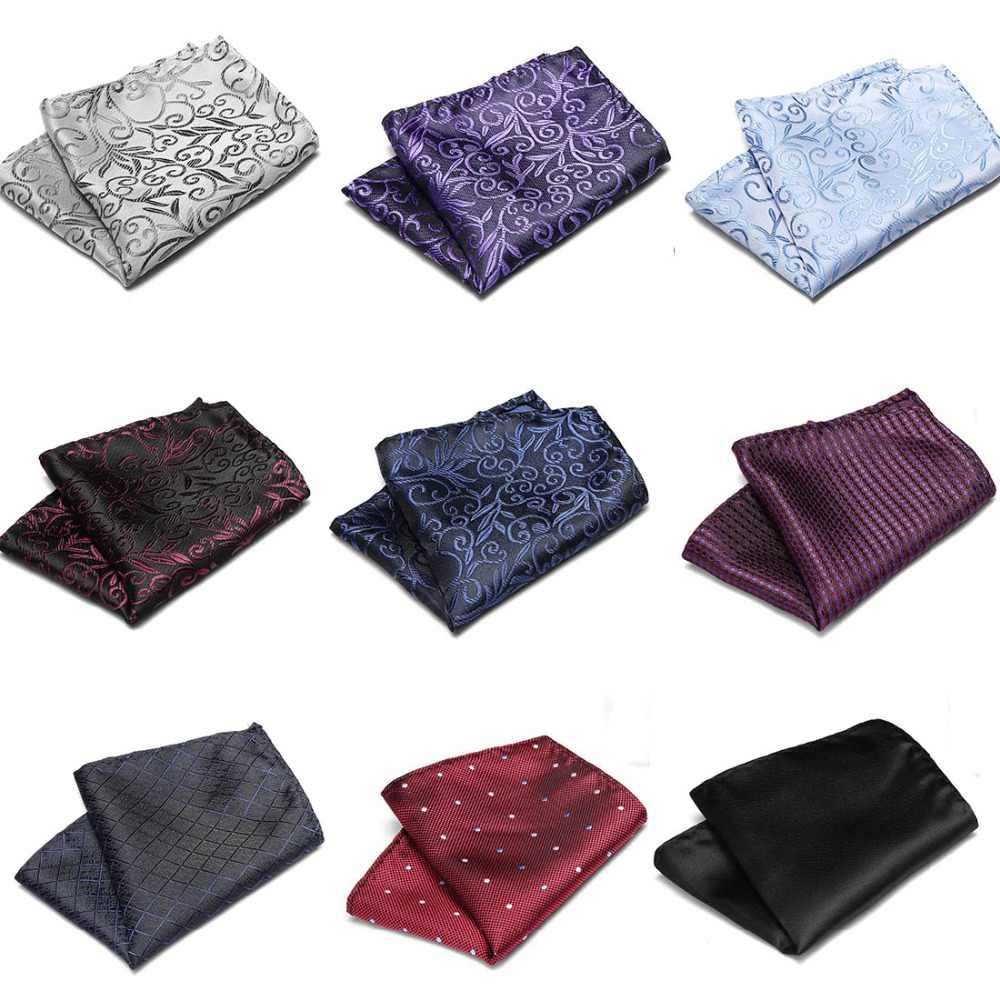 الوردي والأسود بيزلي الرجال موضة جديدة تصميم البوليستر منديل منقوشة جيب مربع مناديل للرجال دعوى التعادل منديل