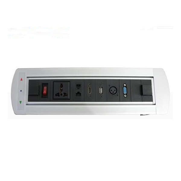 zdt-4.5 New Flipping Electric Socket / HDMI , VGA for High Class Conference Table (offer customized )