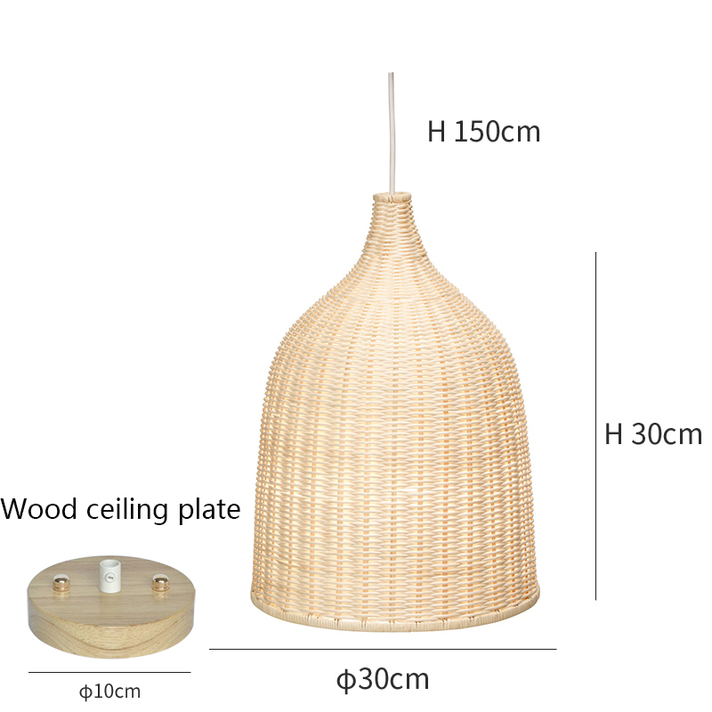 Modern Pendant Lights Bamboo Reading Deco Study Pendant Light Cafe Lighting Dining Living Room Bedroom Hanging Light Fixtures in Pendant Lights from Lights Lighting