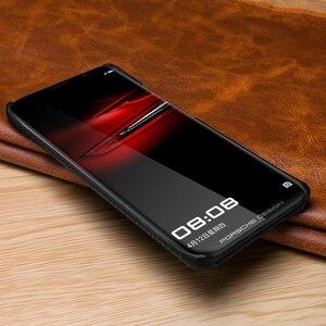 Image 2 - Funda de cuero auténtico Retro de piel de vaca para Huawei P30 P20 Pro P10 Plus funda trasera ultrafina para Huawei P30 Pro