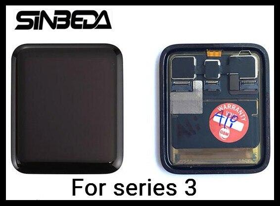Sinbeda Sport/Saphir LCD pour Apple Montre Série 3 38mm 42mm LCD Écran Affichage à L'écran Tactile Digitizer Pièce de rechange