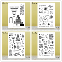 ZhuoAng Christmas Gift Tree Snowman Clear Stamps/Seals For DIY Scrapbooking/Card Making/Album Decorative Silicone Stamp Crafts