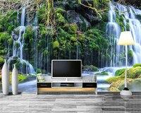 Beibehang Wall Papers Home Decor Custom Photo Wallpaper Natural HD Waterfall Landscape Modern Art 3D Wallpaper