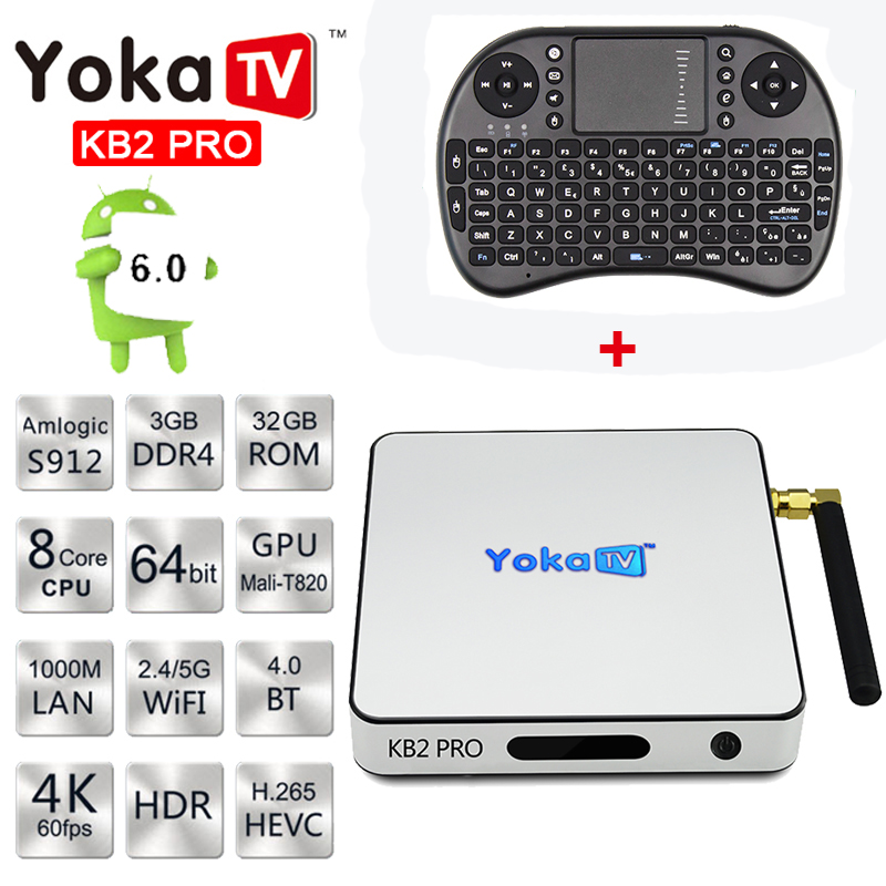 R-TV BOÎTE S10 Android 7 1 Smart TV Box S912 Octa core DDR4 Ram 3G