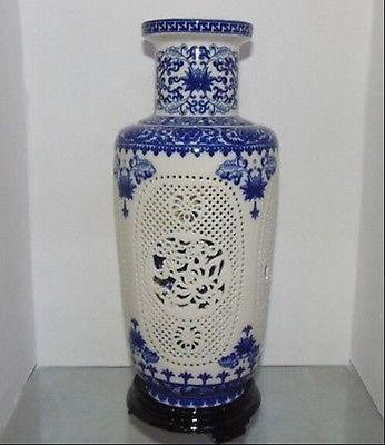 Prekrasan kineski porculan 2 postavljen dvostruko šuplje rezbarene - Kućni dekor - Foto 1