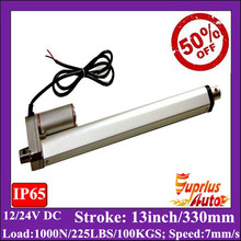 Электрический линейный привод 12 В с 13 inch/330 мм ход, 1000N/100kgs нагрузки стула линейный привод
