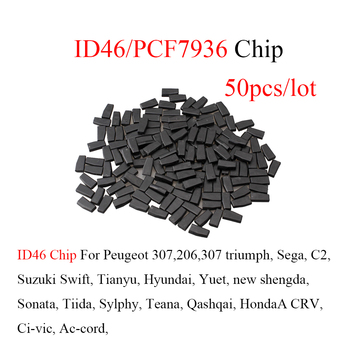 50pcs/lot Auta Remote Car key ID46 Chip Transponder Chip Blank PCF7936AS PCF7936 ID46 Chip For peugeot for Citroen For Honda