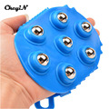 Health Care Handheld 360 Degree Spin 7 Piece Steel Ball Roller Slimming Body Massager Massage Glove Mitt AM028-48W