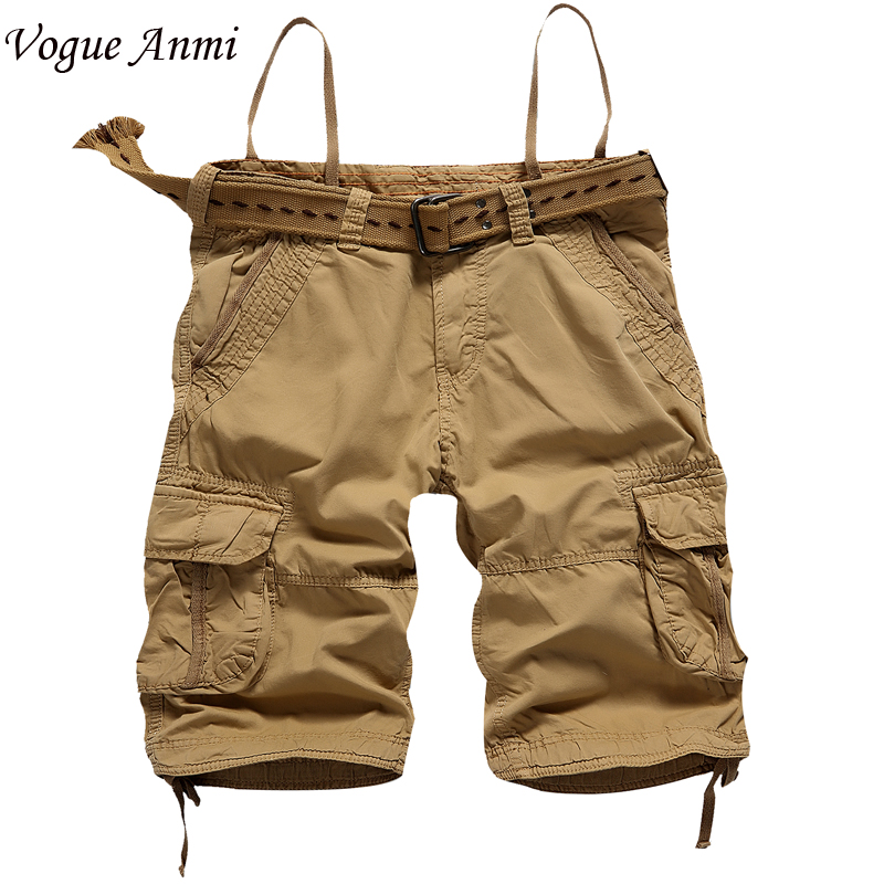 Vogue Anmi Summer Men shorts Army Cargo Work Casual bermuda masculina Shorts Fashion Overall Squad Match