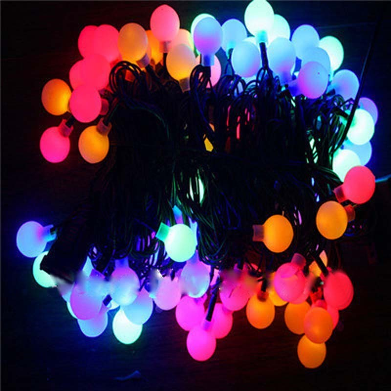 Fairy 10m 100 leds LED Ball curtain string light lamp New Year Christmas Decoration Wedding party lighting chandelier outdoor