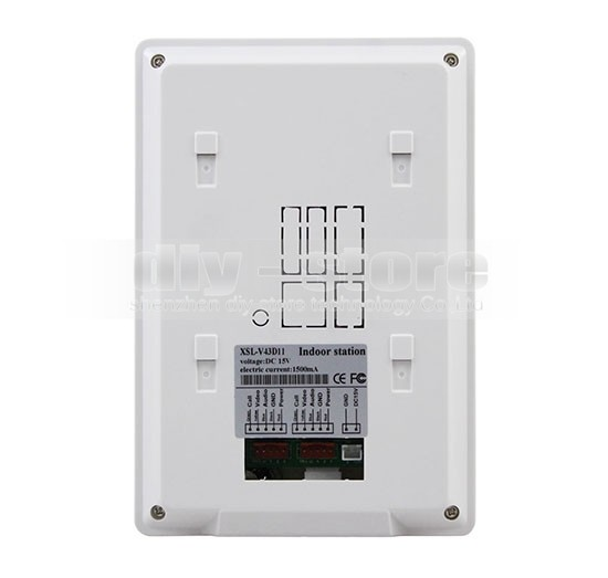 DIYSECUR 4.3 inch TFT LCD Indoor Monitor + 600 TVLine HD Camera IR Night Vision Video Door Phone Video Intercom 2V2