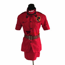 Anime Hellsing Herushingu Seras Victoria Red Cosplay Costume with Socks Custom Made Any Size hellsing alucard cosplay red mens hellsing cosplay costume