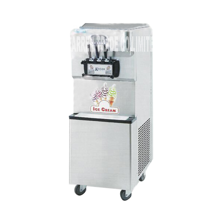 Softy Ice Cream Making Machine Commercial Steel Soft Serve Ice Cream Machine 220V/110V 3800W 55-60L/H ICM-378 ice cream machine  недорого