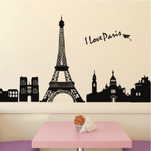 Superior Famous Quote Word EIFFEL TOWER Wall Sticker PARIS Decor Art Vinyl Decal  DIYwall Murals Kids Part 20