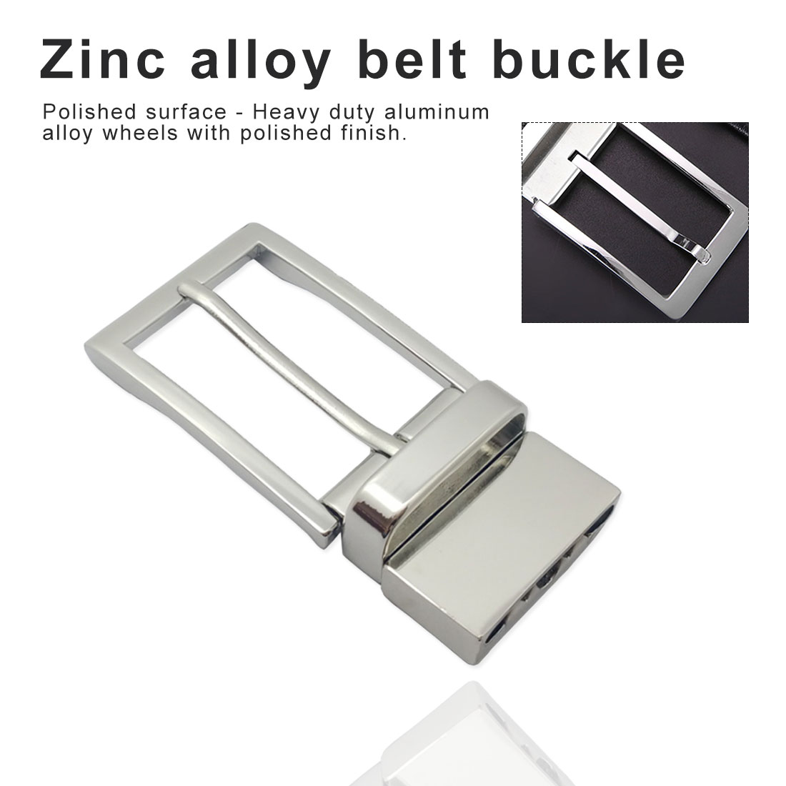 Silver Square Metal Shoe Bag Belt Buckle Decorative DIY Accessories Sewing